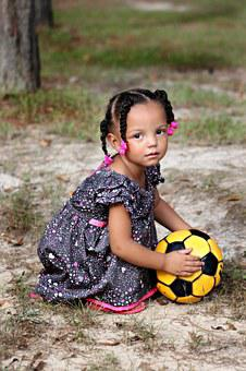 Child, Girl, Little, Young, Small, Play, Ball, Outdoors