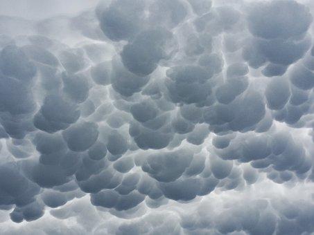 Clouds, Mammatus, Mammatus Cloud, Mammatocumulus, Eerie