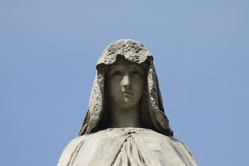Cemetery, Recoleta, Art, Statue, Stone, Maria