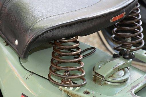 Saddle, Motor Scooter, Vehicle, Roller, Antique, Old