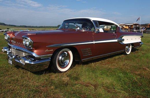 Pontiac Bonneville, 1958, Classic, Vintage, Oldster