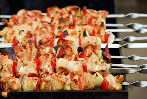 Grill, Barbecue, Meat, Poultry, Turkey Meat, Onion