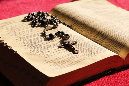 Bible, Rosary, Prayer, Pray, Holy, Christianity, Book