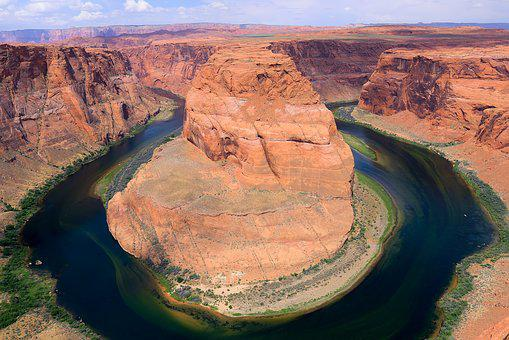 Horseshoe Bend, Arizona, Gorge, River, Nature