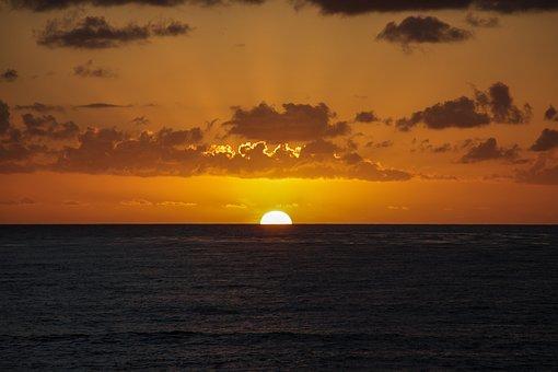 San Diego, Sunset, Sun, Seascape, California, Ocean