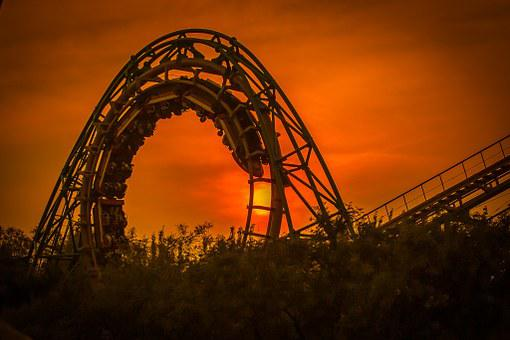 The Roller Coaster, Shijingshan, Amusement Park