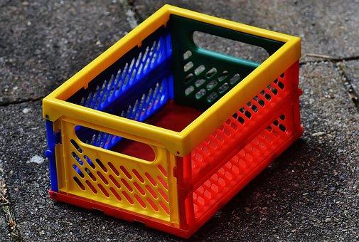 Folding Box, Folding, Shopping, Stow, Plastic, Colorful
