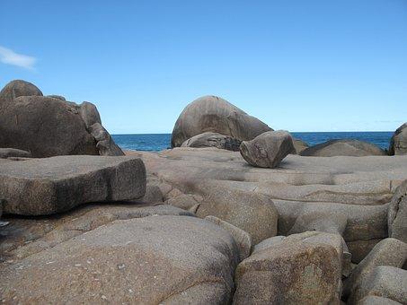 Rocks, Rock, Stones, Coastline, Rocky Shore Line