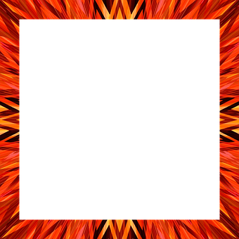 Orange, Radiates, Tribal, Frame, Border, Surround