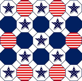 Patriotic, Symbolic, Red, White, Blue, Stars, Stripes