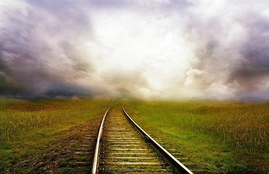 Railroad Tracks, Tracks, Railway, Train, Landscape