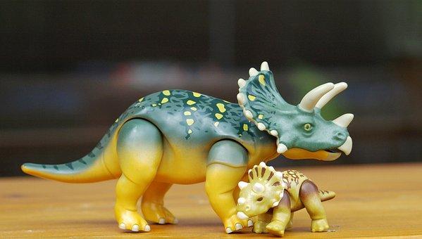 Dino, Triceraptos, Play, Replica, Dinosaur