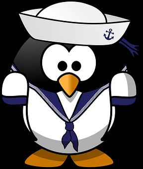 Tux, Anchor, Animal, Bird, Boat, Ferry, Hat, Mariner