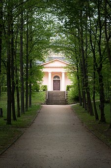Park, Weimar, Cemetery, Avenue, Germany