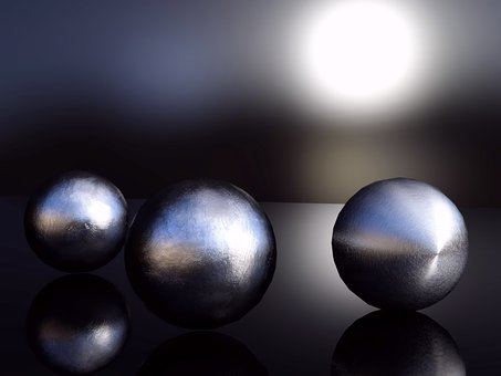 Ball, Background, Abstract, Decoration, Blue