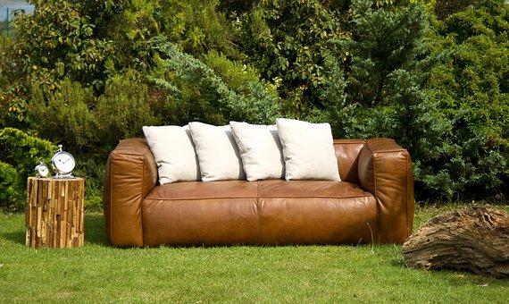 Armchair, Brown, Garden, Composition, Furniture
