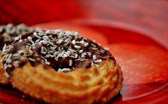 Cookies, Kringel, Coconut, Chocolate, Delicious, Sweet