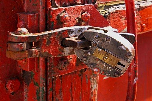 Lock, Shut, Closed, Door, Metal, Security, Secure