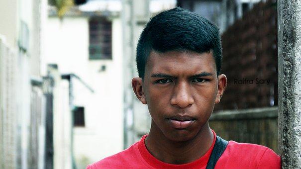 Man, Portrait, External