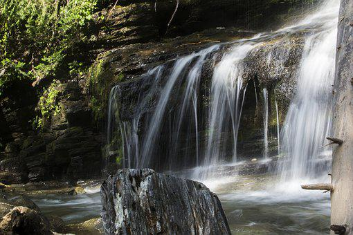 Waterfall, Water, Fall, Flow, Smooth, Clear, White