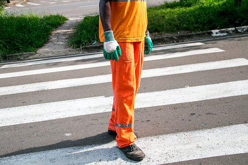 Trash, Street-sweeper, Collection, Dustman, Gloves