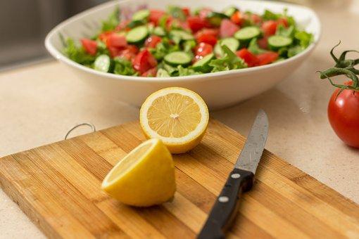 Salad, Green, Health, Detox, Food, Wood, Olives, Tomato