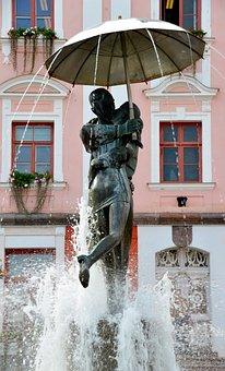 Kiss, Couple, Statue, Fountain, Romantic, Love, Happy