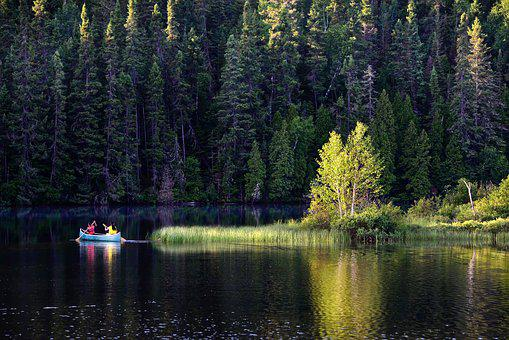 Canoe, Landscape, Lake, Quiet Place, Travel, Summer