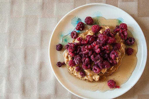 Food, Breakfast, Pancake, Fruit, Raspberries, Meal