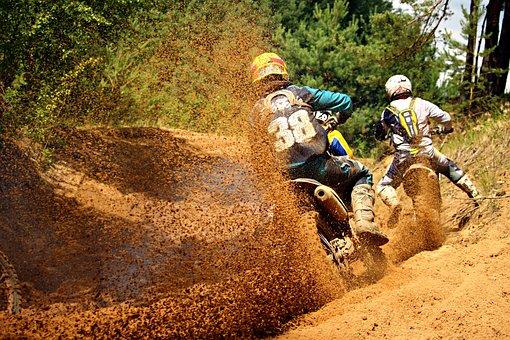 Motorsport, Enduro, Motocross, Dirtbike, Motocross Ride