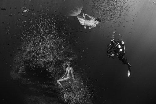 Mermaid, Water Creature, Mystical, Female, Male