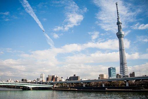 Nature Of Tokyo Skytree, Tokyo, Bluesky