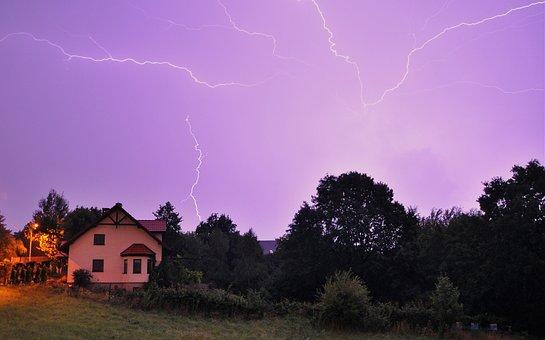 Storm, Weather, Night, Nature, Lightning, Zipper