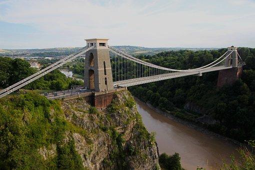 Clifton Suspension Bridge, Bridge, Suspension, Clifton