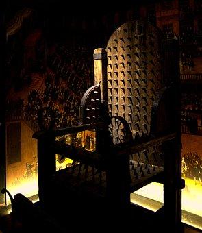 Torture, Medieval, Chair, Throne, Vintage, Historical