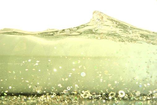 Water, Wave, Glitter, Art, Blue, Sea, Liquid, Nature