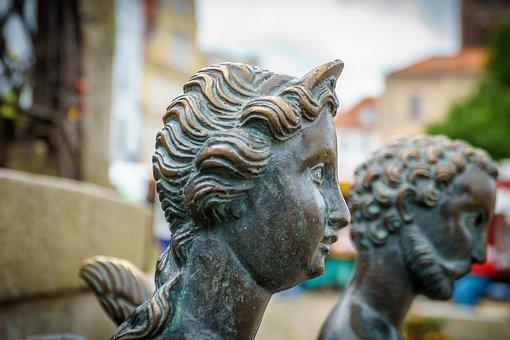 Wismar, Water Art, Figure, Bronze, Sculpture, Artwork