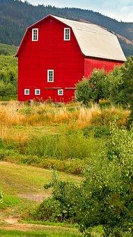 Red, Barn, Oregon