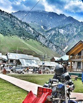 Biker, Kashmir, India, Highway, Mountain, Travel, Pass