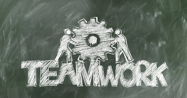 Teamwork, Team, Gear, Board, Chalk, Hatch, Gears, Drive