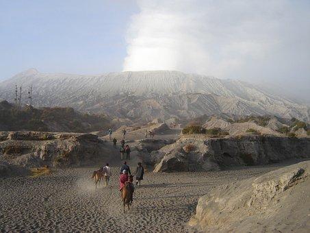 Java, Indonesia, Volcano, Bromo, Crater, Mountain