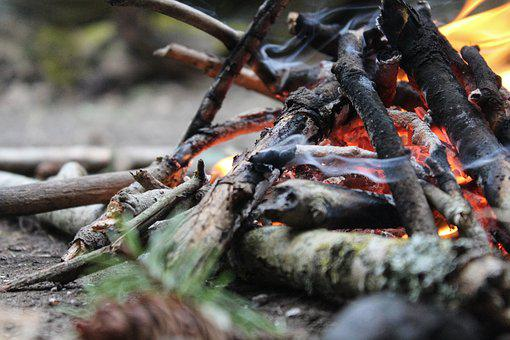 Campire, Fire, Summer, Camp, Wood, Tourism, Camping