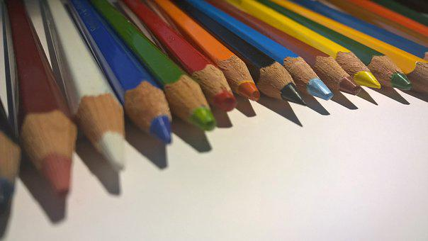 Color, Pens, Colored Pencils, Colorful, Wooden Crayons