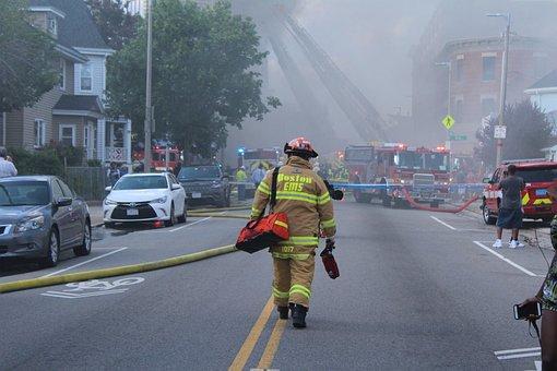 Fire, Boston, Building, Emergency, Fire Truck