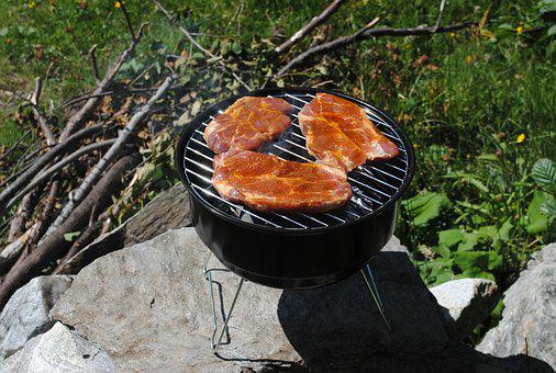 Grill, Grilling, Summer, Camping, Wood, Outdoor