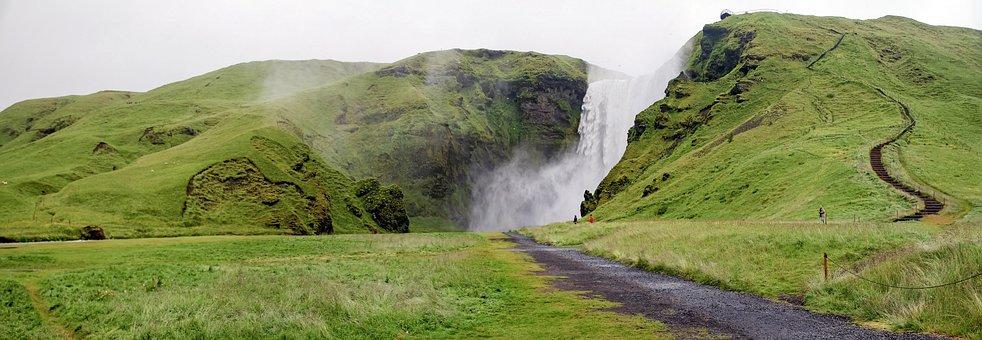 Skogarfoss, Iceland, Cascade, Waterfall, Water, Nature
