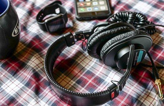 Headphones, Phone, Mobile, Smartphone, Music