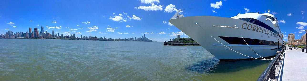 Port, Harbor, Ship, Cruise, Dock, Summer, Nyc, Travel