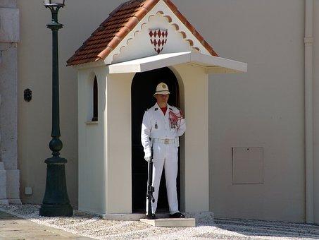 Monaco, Sentry, Palace, Guard, Cottage