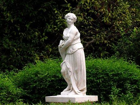 Angel, Idol, Garden, Statue, Religion, Religious